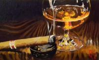 Alexandr Gukalov Cognac and cigar