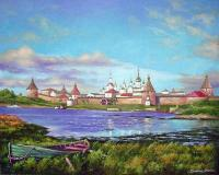 Oleg Kulagin The Solovetsky monastery. Landscape