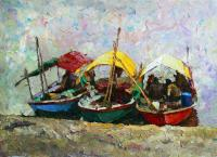 Rudnik Goa. Boats Seascape