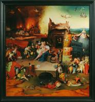 "Pavel Epifanov Copy of Bosch ""The Temptation of St. Anthony"" 1505 Copies of paintings"
