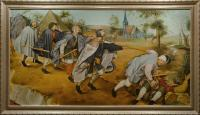 "Pavel Epifanov Copy of Bruegel ""The Parable of The Blind"", 1568 Copies of paintings"