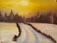 Anastasiya January evening Landscape