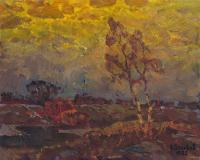 Vasily Belikov Dull evening Landscape