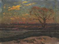 Vasily Belikov Spring morning Landscape