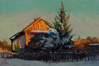 Alexey Golovchenko Paints Feb Rural Landscape