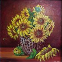 Nina Belova SUNFLOWERS Still Life