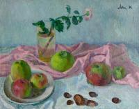 Moesey Li Still life with apples and chestnuts Still Life