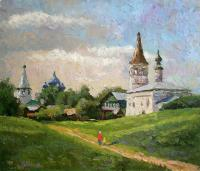 Rudnik Morning in Suzdal Urban Landscape