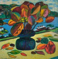 Moesey Li Autumn leaves Still Life