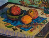 Moesey Li Pomegranates and an orange Still Life