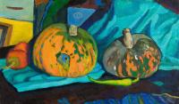 Moesey Li Pumpkins and pepper Still Life