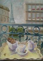 Tatyana Cherkasova Morning in Paris Urban Landscape