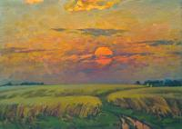 Vasily Belikov Cereal field Rural Landscape