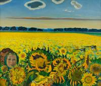 Moesey Li Field of sunflowers Rural Landscape