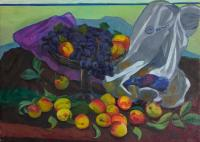 Moesey Li Grapes and peaches Still Life