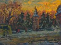 Vasily Belikov Winter day in the city Urban Landscape